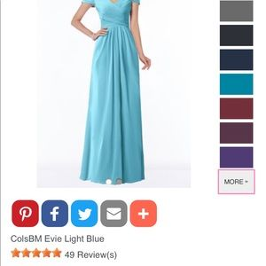 Bridesmaid dress, new, sky blue 12